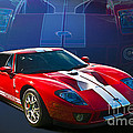 Red Ford Gt40 by Stuart Row