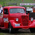 Red Ford Pickup by John Greaves