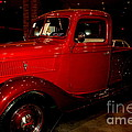 Red Ford Truck by Susanne Van Hulst
