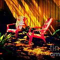 Red Garden Chairs by Susanne Van Hulst
