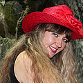 Red Hat And A Blonde by Mariola Bitner