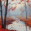 Red Leaves by Graham Gercken
