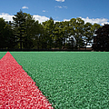 Red Line On An Athletic Field by Sam Bloomberg-rissman
