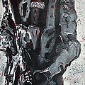 Red Marble Full Length Figure Portrait Of Swat Team Leader Alpha Chicago Police Full Uniform War Gun by M Zimmerman MendyZ