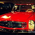 Red Mercedes Sl by Susanne Van Hulst