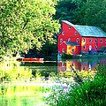 Red Mill On The Lake by Artistic Photos