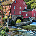 Red Mill On The Water by Paul Ward