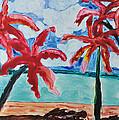Red Palms by Mickey Krause