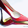 Red Patent Stilettos by Paulette B Wright