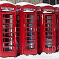 Red Phone Boxes by Andrew  Michael