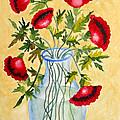 Red Poppies In A Vase by Kimberlee Weisker