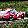Red Porsche Running Away by Alain De Maximy