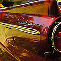 Red Ranchero And Round Taillight by Mick Anderson