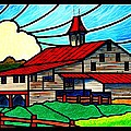 Red Roof Barn On Osceola Springs Road by Jim Harris
