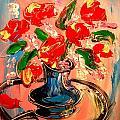 Red Roses by Mark Kazav