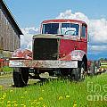 Red Rusted Semi by Randy Harris