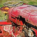 Red Rusty Beach Tractor by Camera Rustica Bill Kerr