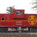 Red Sante Fe Caboose Train . 7d10328 by Wingsdomain Art and Photography