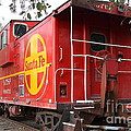Red Sante Fe Caboose Train . 7d10332 by Wingsdomain Art and Photography