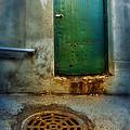 Red Shoes By Green Door by Jill Battaglia
