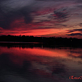 Red Sky Sunset by Ericamaxine Price