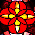Red Stained Glass by LeeAnn McLaneGoetz McLaneGoetzStudioLLCcom