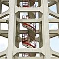 Red Stairway by Gerard Hermand