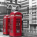 Red Telephone Boxes by David French