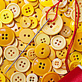 Red Thread And Yellow Buttons by Garry Gay