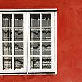 Red Timber House And Window Frame In by Trish Punch