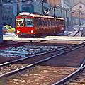 Red Trolley by Scott Palmer