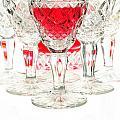 Red Wine Glass by Parinya Kraivuttinun