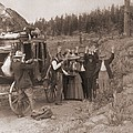 Reenactment Of A Stage Coach Robbery by Everett