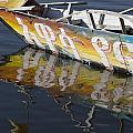 Reflection Of Boat In Lake Ethiopia by David DuChemin
