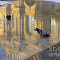 Reflection Of The Louvre In Paris by Louise Heusinkveld