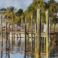 Reflections At Fort Pierce by Trish Tritz