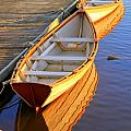 Reflections Of A Dory  Amesbury Ma by Suzanne DeGeorge