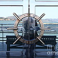 Reflections Of Alcatraz Island At The Maritime Museum In San Francisco California . 7d14080 by Wingsdomain Art and Photography