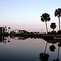 Reflections Of Keaton Beach Marina by Marilyn Holkham