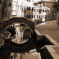 Reflections On Venetian Canal by Donna Corless
