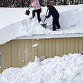 Removing Snow From A Building by Ted Kinsman