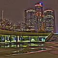 Renaissance Center Detroit Mi by Nicholas  Grunas