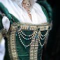 Renaissance Lady In Green by Jill Battaglia