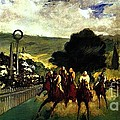 Rennen In Longchamp by Pg Reproductions
