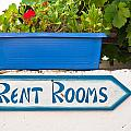 Rent Rooms Sign by Tom Gowanlock