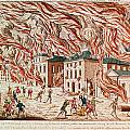 Representation Of The Terrible Fire Of New York by French School