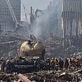 Rescue Crews Amid The Debris by Everett