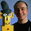 Researcher With His Happy Emotional Lego Robot by Volker Steger