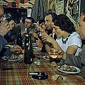 Restaurant Diners Eat Snails, Drink by Justin Locke
