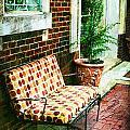 Retro Grunge Sidewalk Bench Seat by Kathy Clark